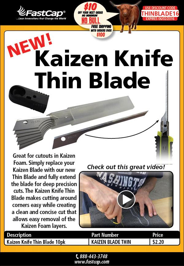 Kaizen Knife Thin Blades Video