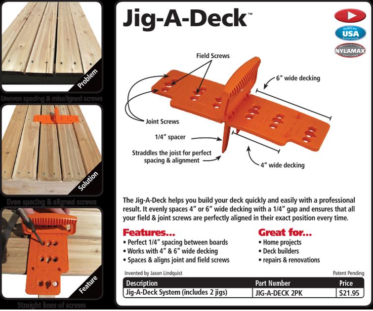 Building a deck fastcap